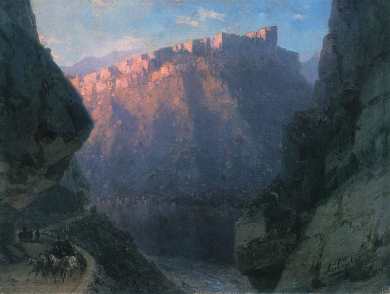 Devils Gorge 1868 22h29. 5. Ivan Konstantinovich Aivazovsky