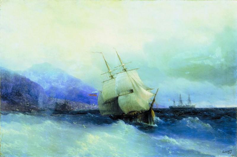 Trebizond from the Sea 1875 61h94. Ivan Konstantinovich Aivazovsky
