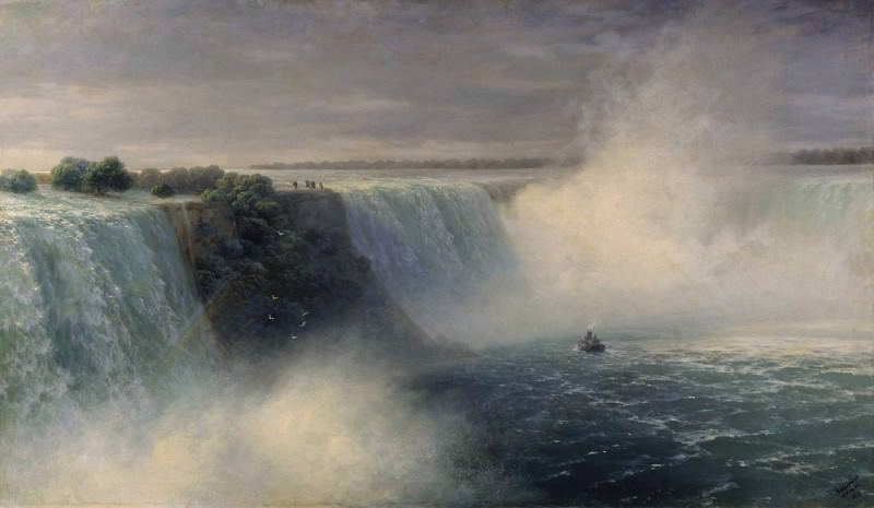 Niagara Falls 1892. Ivan Konstantinovich Aivazovsky