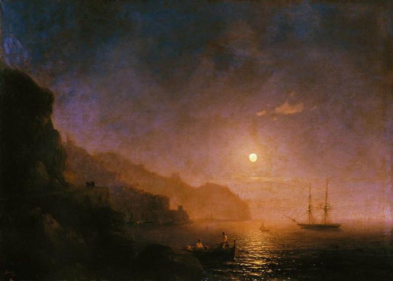 Night in Amalfi 1854 71,5 h99. 9. Ivan Konstantinovich Aivazovsky