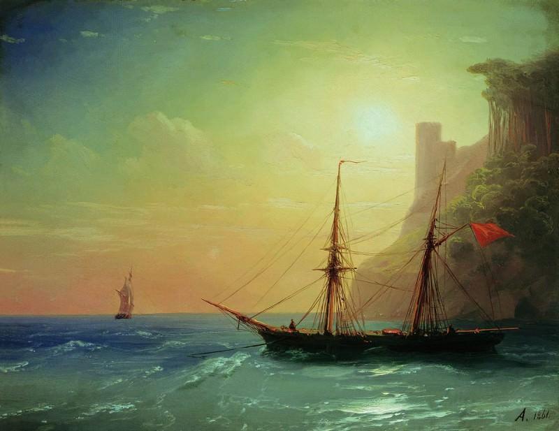 Берег моря 1861 20х25. Иван Константинович Айвазовский