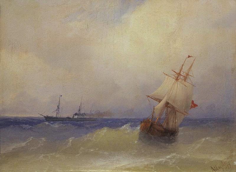 Sea 1867. Ivan Konstantinovich Aivazovsky