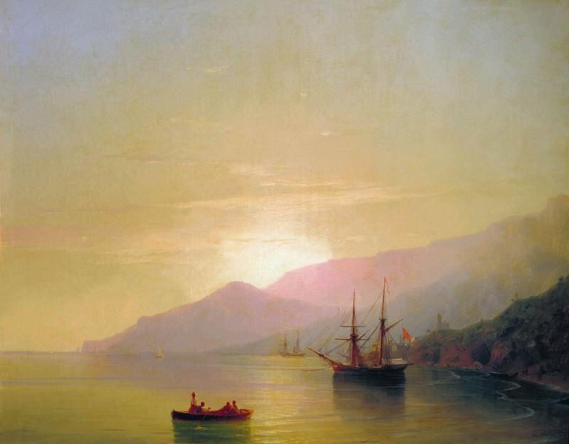Ships at anchor 1851 71h89. Ivan Konstantinovich Aivazovsky