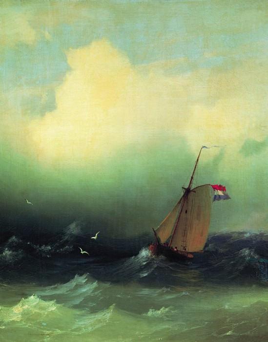 Storm at Sea 1847 53h44. Ivan Konstantinovich Aivazovsky