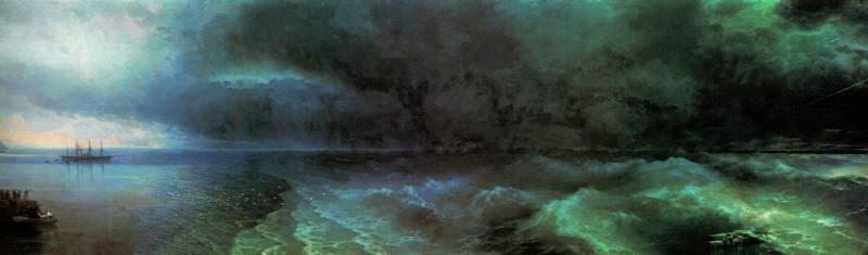 From the calm to hurricane 212h708 1892. Ivan Konstantinovich Aivazovsky