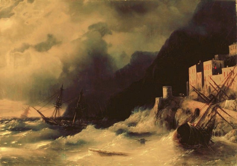 Storm at Sea 1850 82h117. Ivan Konstantinovich Aivazovsky