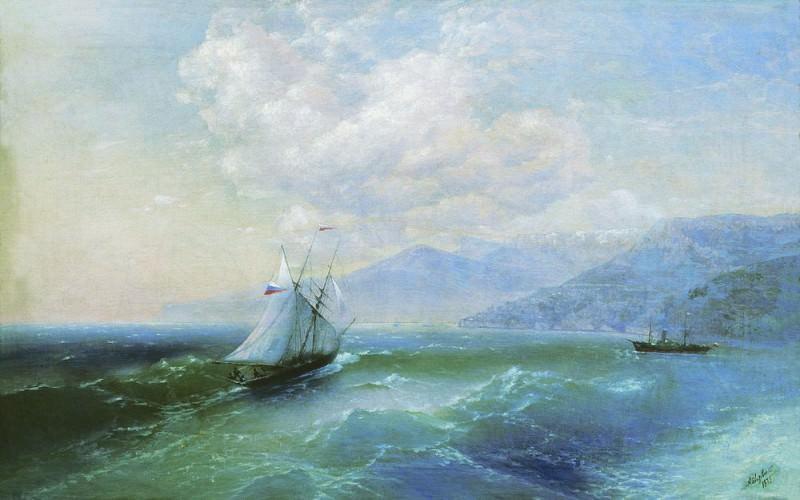 1875 60h94 On the coast, 5. Ivan Konstantinovich Aivazovsky