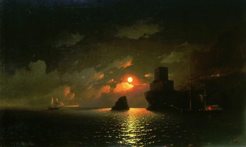 Лунная ночь 1849 123х192. Иван Константинович Айвазовский