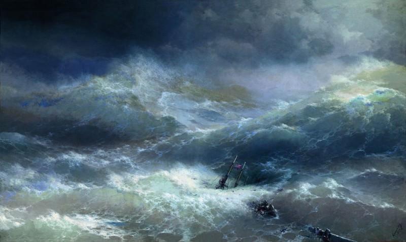 1889 304h505 Wave. Ivan Konstantinovich Aivazovsky