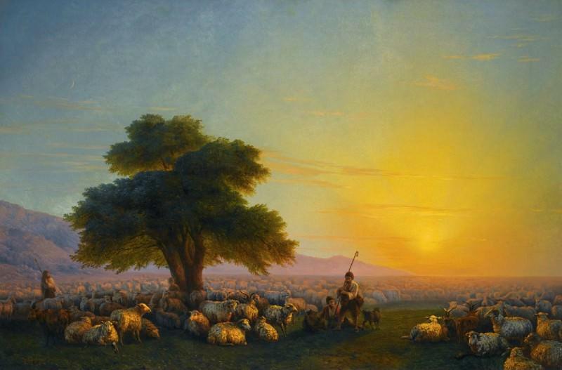 1858 Sheep 107h161. Ivan Konstantinovich Aivazovsky