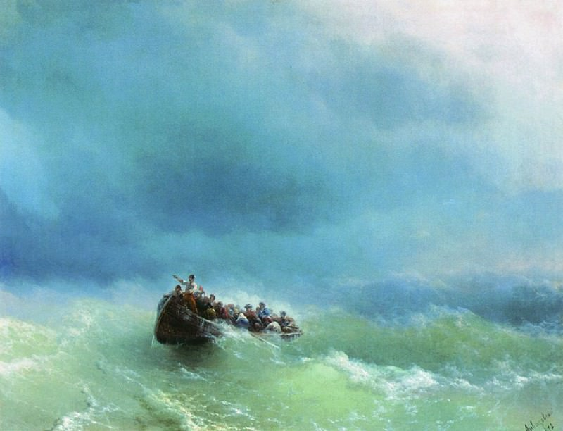 In the storm of 1872 72h92. Ivan Konstantinovich Aivazovsky