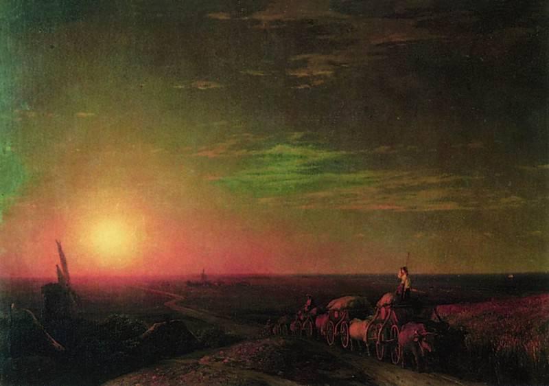 waggons Chumaks 1862 61h83. Ivan Konstantinovich Aivazovsky