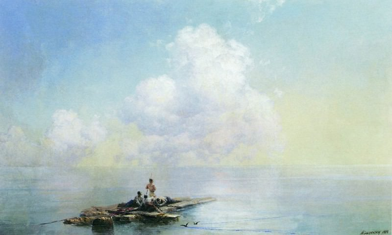 Morning after the storm 1888 40x60. Ivan Konstantinovich Aivazovsky