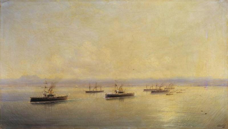 Fleet in Sevastopol mind 71h124 1890. Ivan Konstantinovich Aivazovsky
