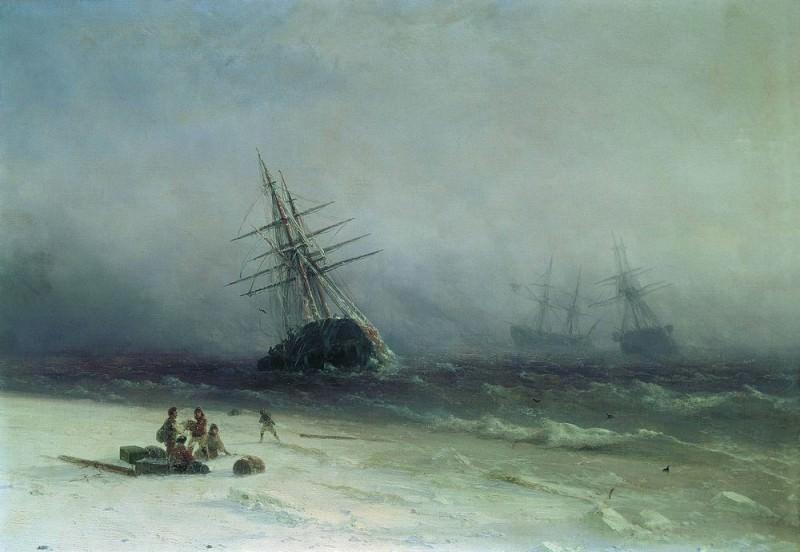 Shipwreck in the North Sea in 1875 41h58. Ivan Konstantinovich Aivazovsky