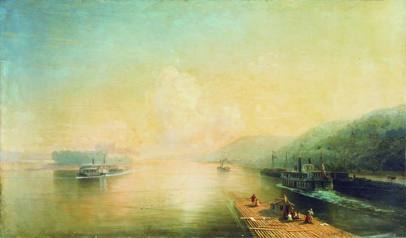 Volga near Zhiguli Mountains 129h219 1887, 5. Ivan Konstantinovich Aivazovsky