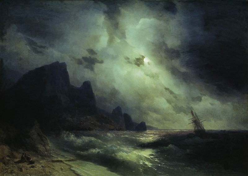 Sea 1864 128h179. Ivan Konstantinovich Aivazovsky