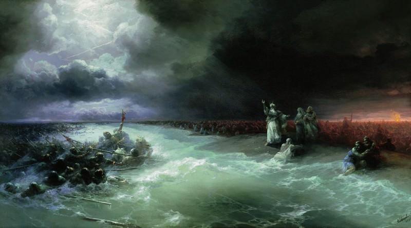 Переход евреев через Красное море 1891 96х160. Иван Константинович Айвазовский