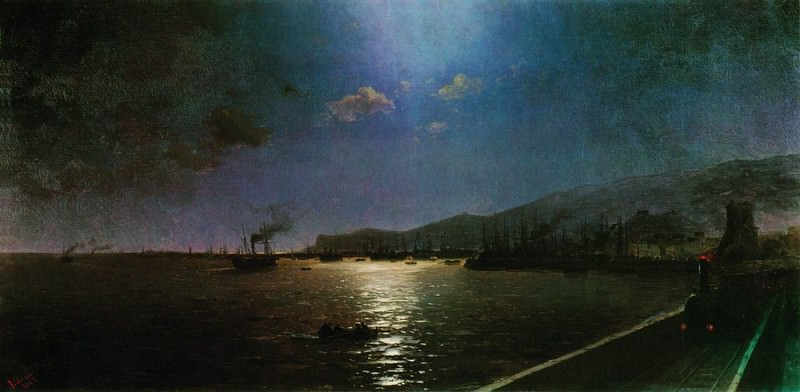 First train in Feodosia 1892 96h194, 5. Ivan Konstantinovich Aivazovsky