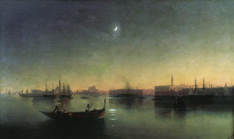 Venice 1870 100x140. Ivan Konstantinovich Aivazovsky