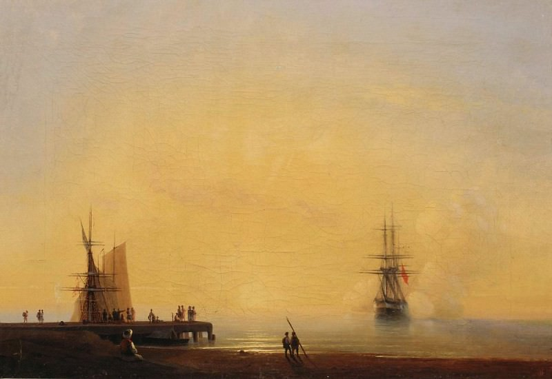 Evening. On roads. Ivan Konstantinovich Aivazovsky