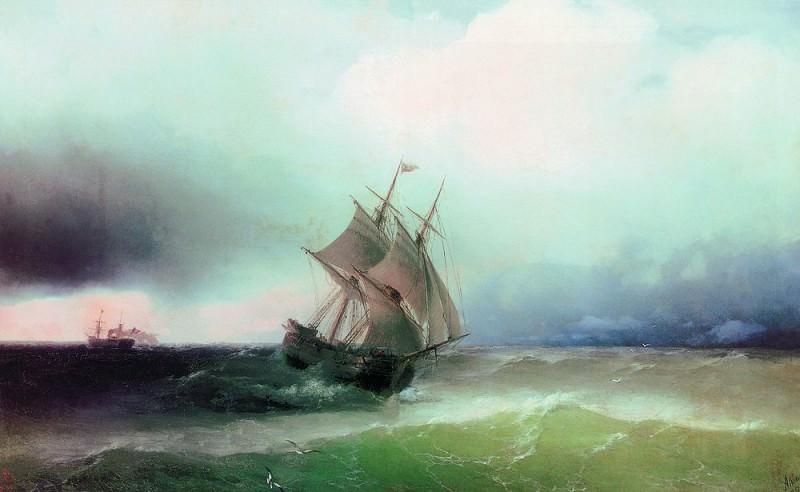 Approximation storm 99h143 1877. Ivan Konstantinovich Aivazovsky
