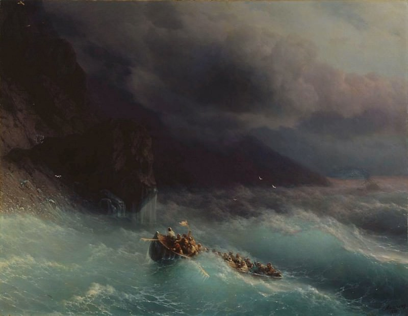 Storm on the Black Sea 1873 134h172. Ivan Konstantinovich Aivazovsky
