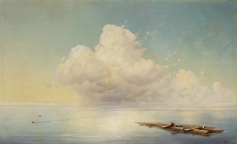 cloud over the quiet sea 1877. Ivan Konstantinovich Aivazovsky