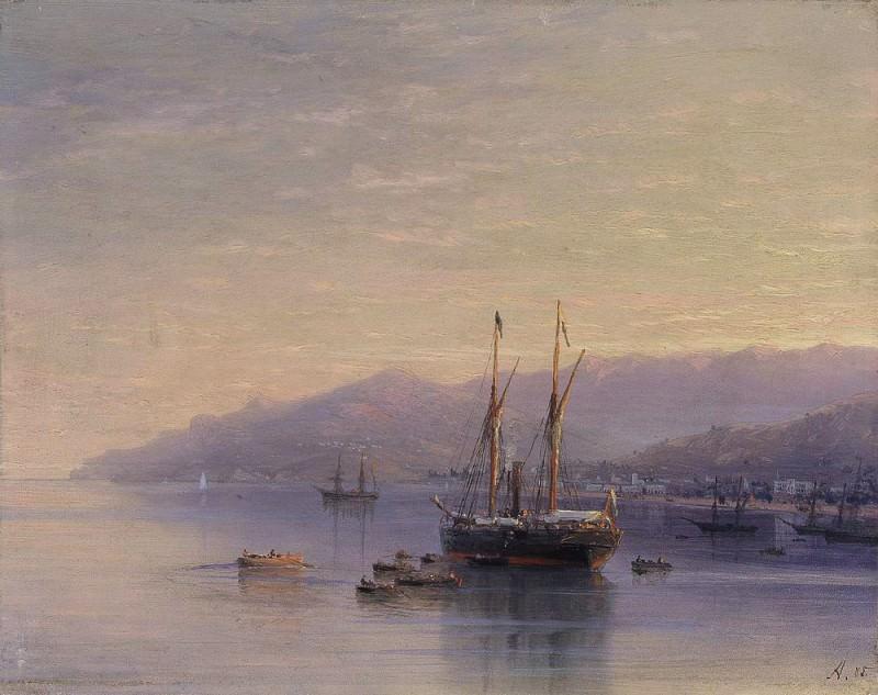 Beach Yalta 1885. Ivan Konstantinovich Aivazovsky