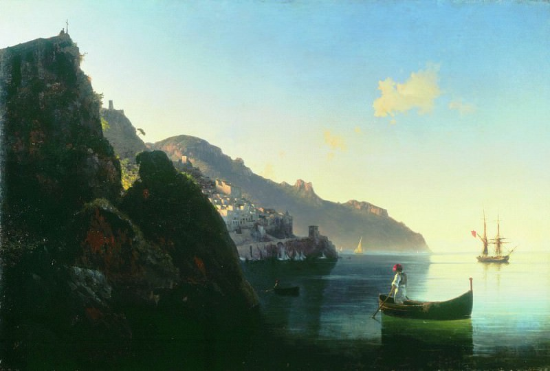 Coast at Almafi 1841 71h105. Ivan Konstantinovich Aivazovsky