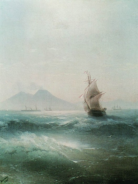 Bay of Naples. Kind of Vesuvius 1879 68h52. Ivan Konstantinovich Aivazovsky