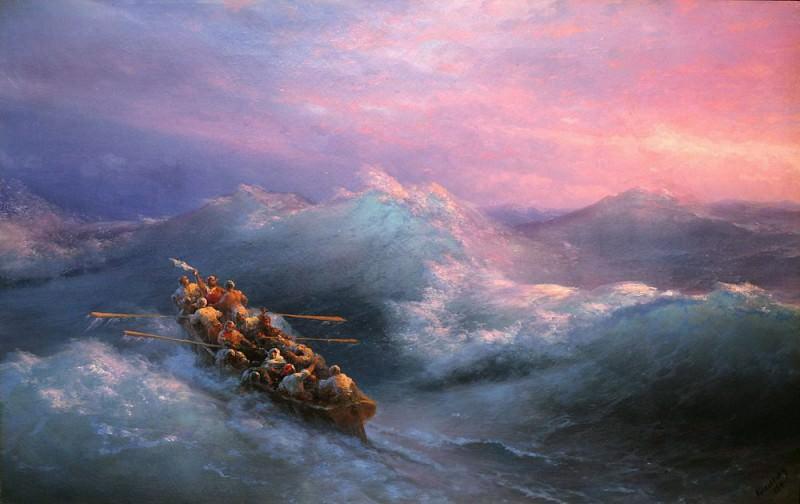 Shipwreck 1884. Ivan Konstantinovich Aivazovsky