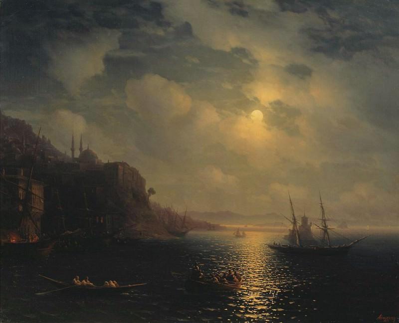 Moonlit Night on the Black Sea 1873. Ivan Konstantinovich Aivazovsky