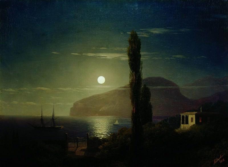 Moonlit Night in the Crimea in 1859 58,3 h76, 2. Ivan Konstantinovich Aivazovsky