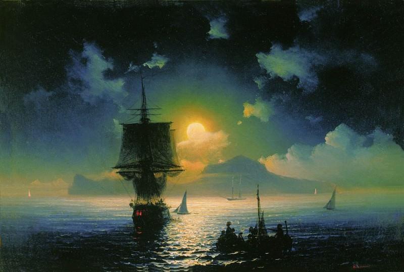 Moonlight Capri 1841 26h38, 5. Ivan Konstantinovich Aivazovsky