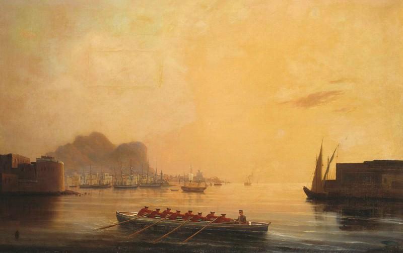 1850 Harbor. Ivan Konstantinovich Aivazovsky
