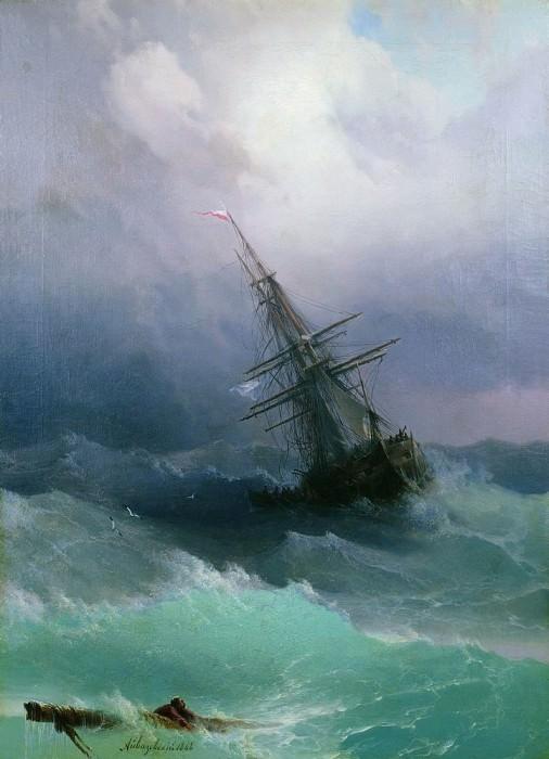 1868 Storm 70x50. Ivan Konstantinovich Aivazovsky