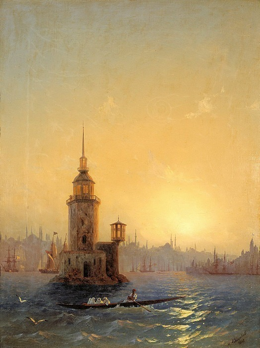 View of the Leandro Tower in Constantinople. Ivan Konstantinovich Aivazovsky