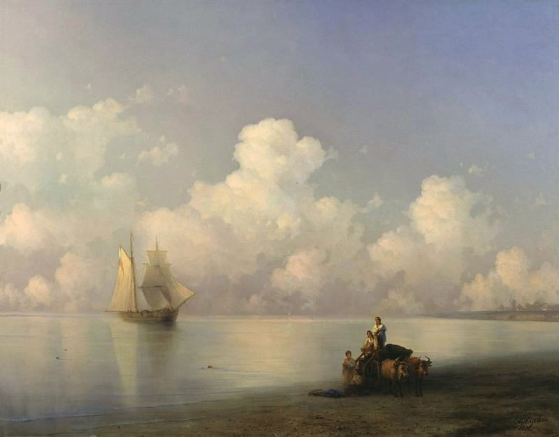 Evening at Sea 1871 129h164. Ivan Konstantinovich Aivazovsky
