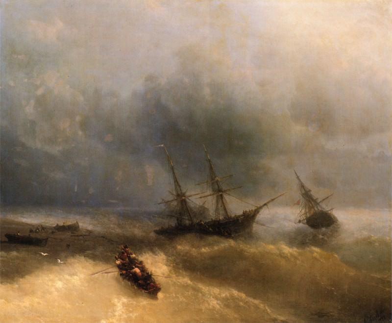 Shipwreck. Ivan Konstantinovich Aivazovsky