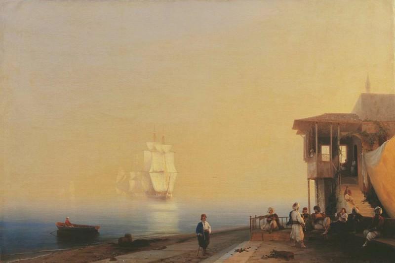 Quay eastern city 1852. Ivan Konstantinovich Aivazovsky