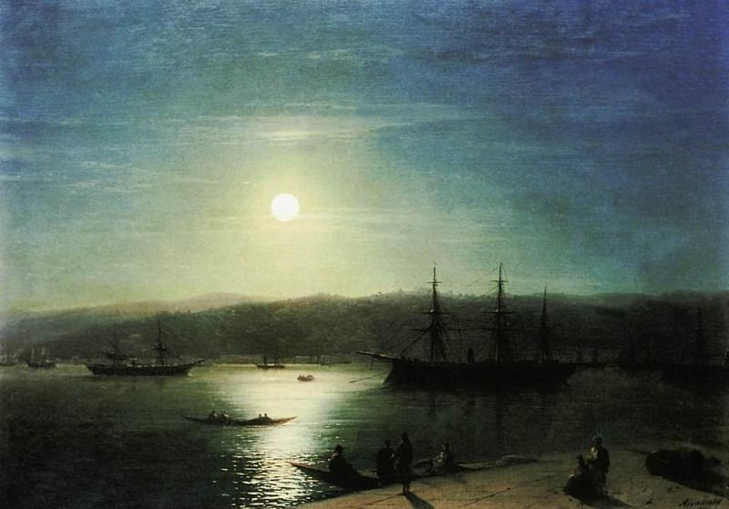 Bosphorus by Moonlight 1874 73h94. Ivan Konstantinovich Aivazovsky