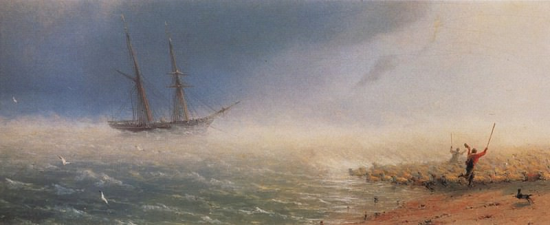 Sheep, chops storm at sea in 1855 13h35, 3. Ivan Konstantinovich Aivazovsky