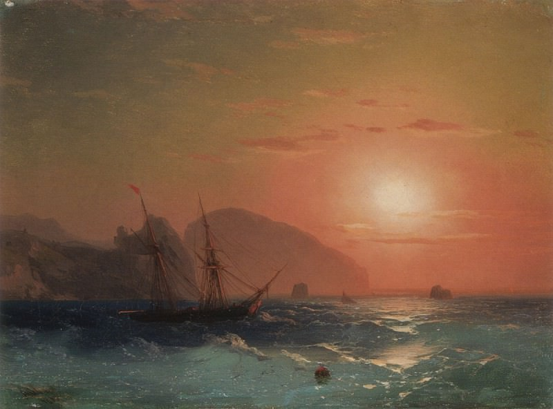 Ayu-Dag View. Ivan Konstantinovich Aivazovsky