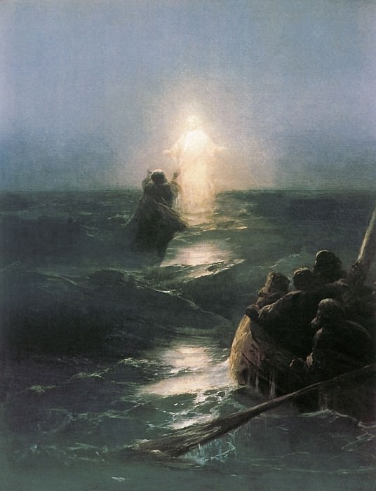 Хождение по водам 1890-е 70х50. Иван Константинович Айвазовский