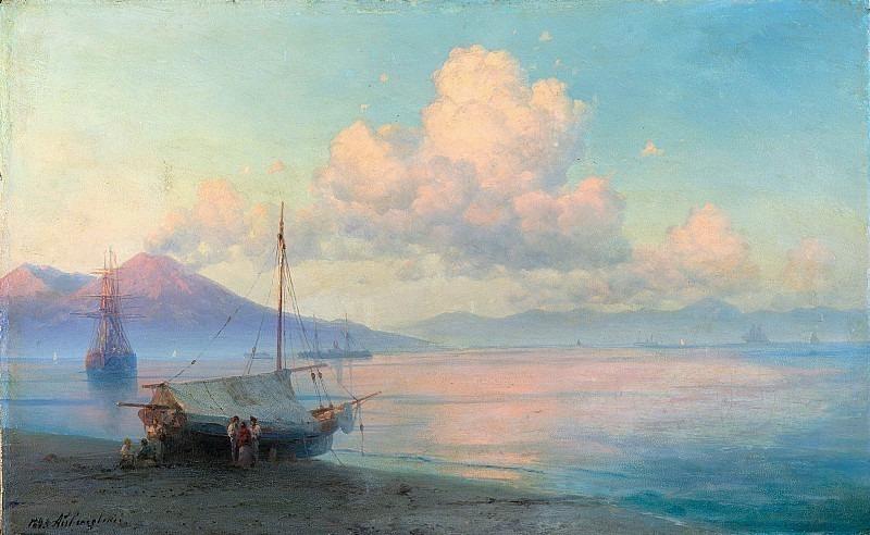 Gulf of Naples in the morning. Ivan Konstantinovich Aivazovsky
