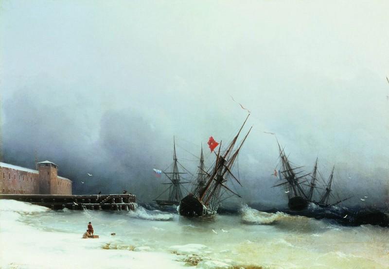 Alert Storm 81h117 1851. Ivan Konstantinovich Aivazovsky