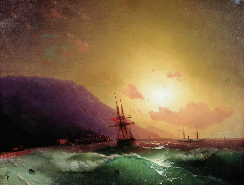 On the coast of Yalta 1864 62h80. Ivan Konstantinovich Aivazovsky