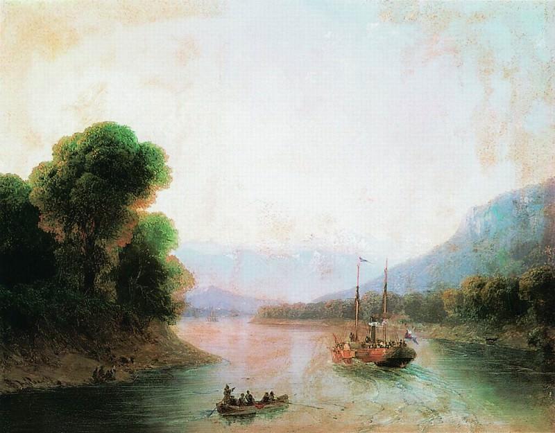 Rioni River. Georgia 1870 36h44. Ivan Konstantinovich Aivazovsky