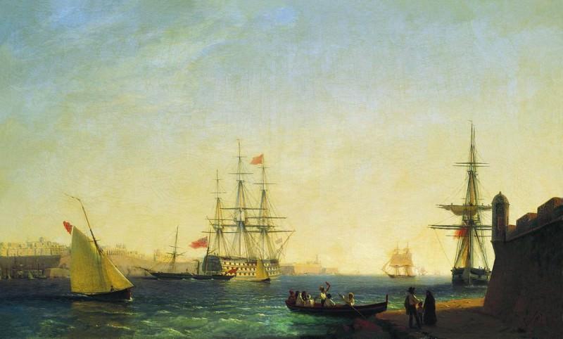 Порт ла Валетта на острове Мальта 1844 61х101. Иван Константинович Айвазовский